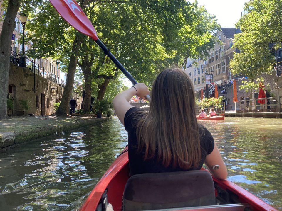 Kanoën in Utrecht