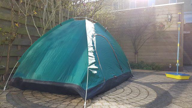 Tent in de tuin