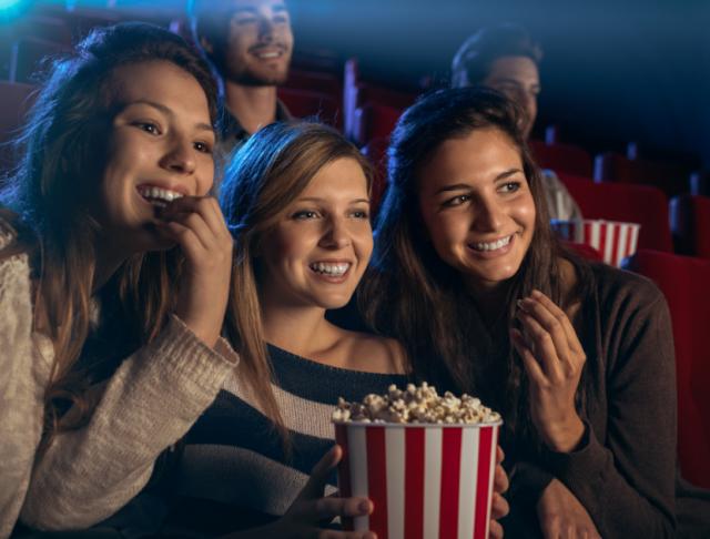 winkelen en film kijken