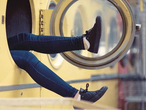 benen uit de wasmachine
