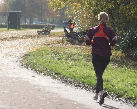 hardlopen maar met afstand