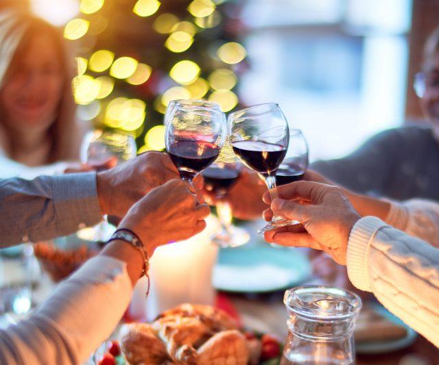wijn met kerst